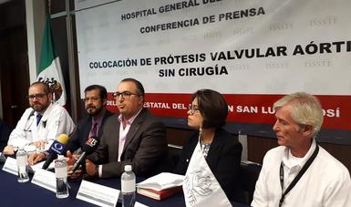 ISSSTE, primera institución de salud pública en SLP en colocar prótesis valvular aórtica sin cirugía