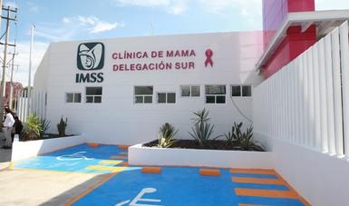 Fachada de la Clínica de cáncer de mama del IMSS en la Delegación Sur de la Ciudad de México recién inaugurada.