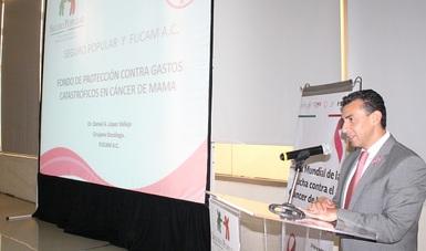 Antonio Chemor Ruiz, Comisionado Nacional del Seguro Popular, informó que durante la presente administración de han financiado más 48 mil casos de cáncer de mama, lo que representa una inversión de más de 10 mil millones de pesos.