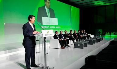 El Subsecretario Rogelio Garza en su mensaje en el Congreso