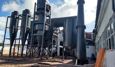 Maquinaria donde se transforma la biomasa en energía.