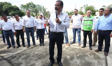 Srio. Eviel Pérez Magaña en evento en Oaxaca
