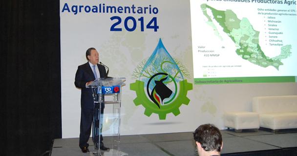 El subsecretario de Agricultura, Jesús Aguilar Padilla, participó en el Foro Agroalimentario Banamex 2014.