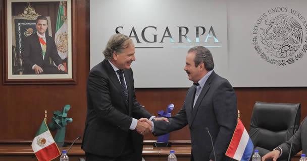 El titular de la SAGARPA, Enrique Martínez y Martínez, encabezó la reunión de trabajo con investigadores y funcionarios holandeses