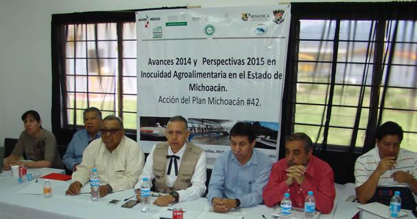 Se llevó a cabo la reunión de Avances 2014 y Perspectivas 2015 en Inocuidad Agroalimentaria, acción número 42 del Plan Michoacán