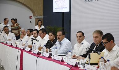 Srio. Eviel Pérez Magaña en evento en Morelos