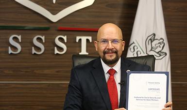 """Recibe ISSSTE certificado de la Patient Safety Movement por Programa """"Hospital Abierto"""""""
