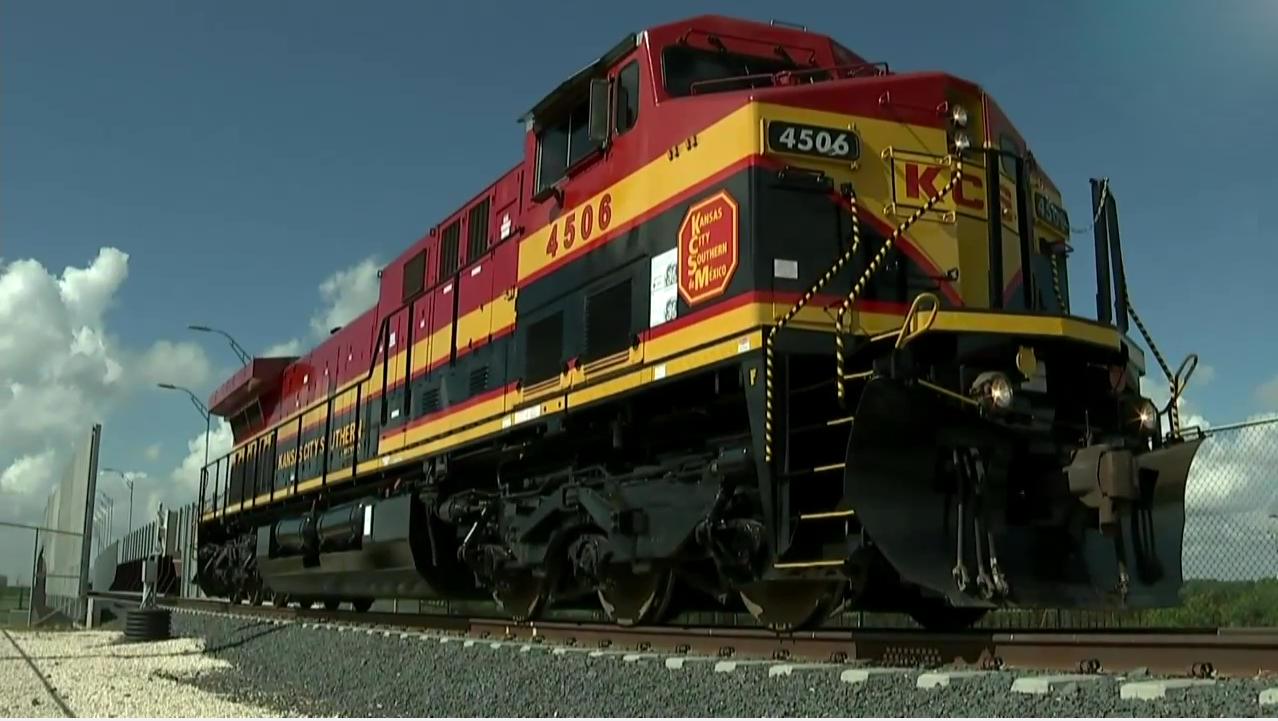 México y Estados Unidos inauguran puente ferroviario entre Matamoros y Brownsville
