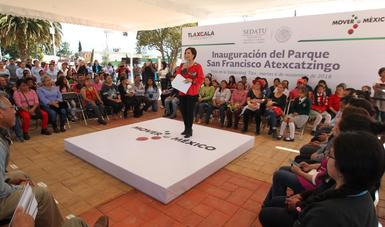 La Titular de la SEDATU, destacó el trabajo que realiza el Gobierno de la República a través de la dependencia en diversos frentes para atender las necesidades de las familias mexicanas