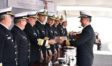 La Secretaría de Marina - Armada de México reconoce la destacada trayectoria de Almirantes que pasan a Situación de Retiro