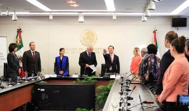 El titular de la COFEPRIS compareció ante los integrantes de la Comisión de Salud del Senado de la República