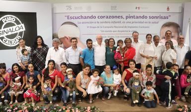 """Concluye en Sinaloa la Campaña Nacional de Implantes Cocleares """"Un sonido que despierta a la vida"""", en esta edición se beneficiaron a 21 menores de edad, quienes recibieron de manera gratuita esta cirugía."""
