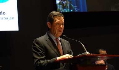 El Secretario del Trabajo, Roberto Campa Cifrián, durante su intervención