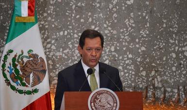 El Secretario del Trabajo, Roberto Campa en su intervención