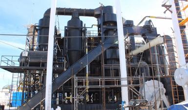 Imagen de la planta generadora de energía a partir de biomasa.