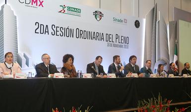 Directores de institutos del deporte y presidentes de Federaciones, agradecieron a Alfredo Castillo el apoyo que les brindó para el crecimiento del deporte en México