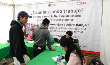 Módulo de atención a migrantes centroamericanos en la CDMX