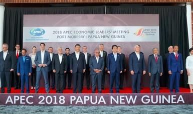 En la imagen, los Líderes del Foro de Cooperación Económica Asia-Pacífico (APEC)