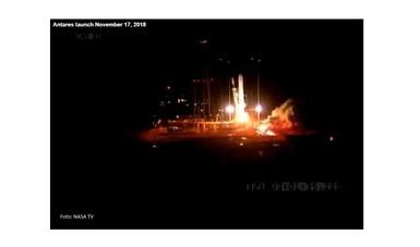 Una instantánea del lanzamiento del MISSE 10.  (Foto: NASA TV)