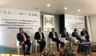 Se presentan resultados sobre la implementación de la política de mejora regulatoria a nivel nacional