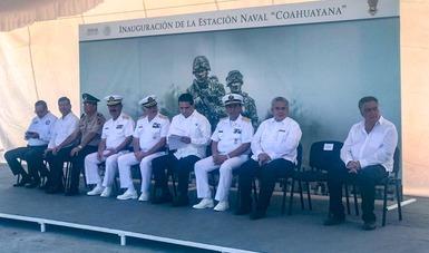 """La Secretaría de Marina- Armada de México y el gobierno de Michoacán inauguran """"la Estación Naval de Coahuayana"""""""