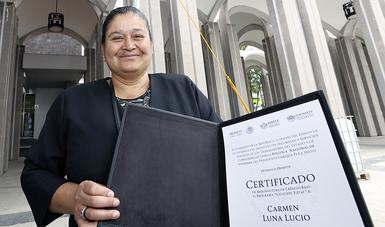 Es una de las beneficiadas del programa Solución Total y cuenta ya con las escrituras de su casa