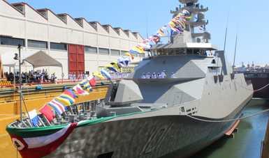 """Ceremonia de Botadura y Abanderamiento de la Patrulla Oceánica de Largo Alcance ARM """"REFORMADOR"""" POLA-10"""