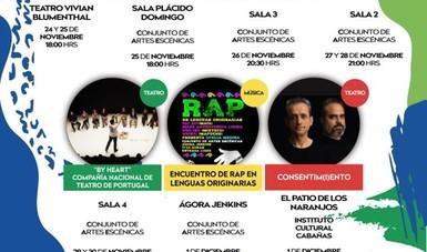 Cartel de programación artística de la Fil Guadalajara.