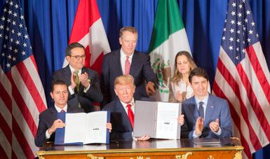El Presidente Enrique Peña Nieto manifestó que el tratado suscrito representa la voluntad compartida por México, Estados Unidos y Canadá de trabajar unidos por el bienestar y la prosperidad de sus sociedades.