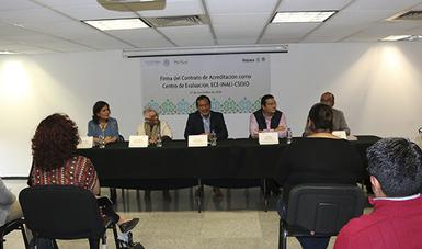 INALI otorga al CSEIIO la certificación como centro de evaluación de competencia de traductores e intérpretes