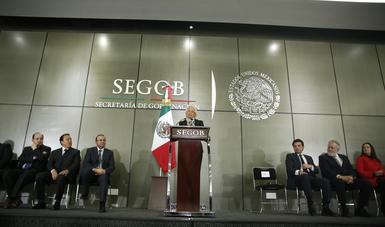 La Secretaria Sánchez Cordero garantizó que se privilegiará siempre el diálogo, escuchando a todos, a la mayoría y minorías