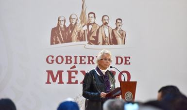 Secretaria Olga Sánchez Cordero, en la firma del Decreto de instalación de la Comisión de la verdad y la justicia