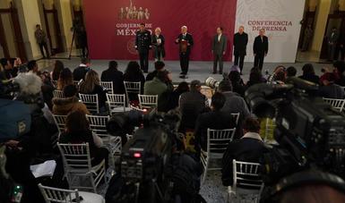 Conferencia de prensa que ofreció el Presidente Andrés Manuel López Obrador