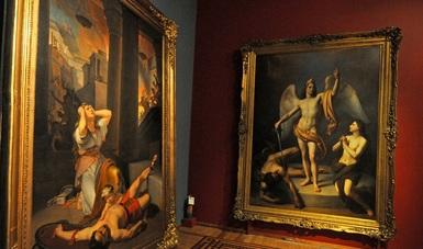 Obras pictóricas que componen la muestra expuesta en el Museo Nacional de San Carlos.