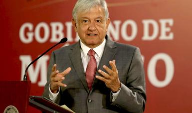 Presidente Andrés Manuel López Obrador en conferencia de prensa matutina