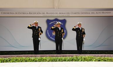 El Cuartel General del Alto Mando de la Armada de México realiza Ceremonia de Entrega - Recepción del Mando de Armas