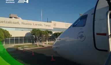 Fachada del Aeropuerto Internacional de Nuevo Laredo