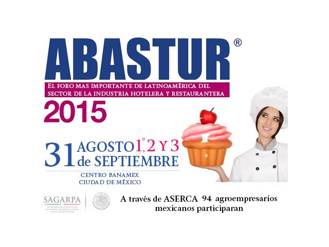 A través de la SAGARPA 94 agroempresas y productores mexicanos participarán en ABASTUR 2015, evento considerado como el encuentro de negocios más importante en América Latina para el sector hotelero y restaurantero.