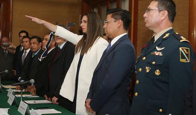 Tomó protesta ante la Junta Directiva de la SEP, en el 30 aniversario de la institución