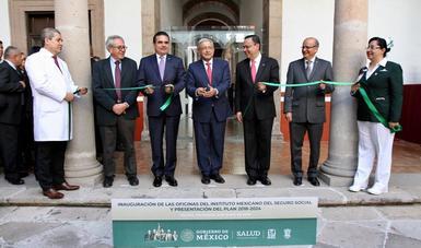 Inauguración de las oficinas del IMSS en Morelia