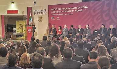 """Participación de la Secretaria de Economía, Graciela Márquez Colín, en el evento """"Zona Libre de la Frontera Norte"""", Cd. Juárez, Chihuahua"""