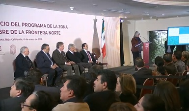 """Participación de la Secretaria de Economía, Graciela Márquez Colín, en el evento """"Zona Libre de la Frontera Norte"""", Tijuana, Baja California"""