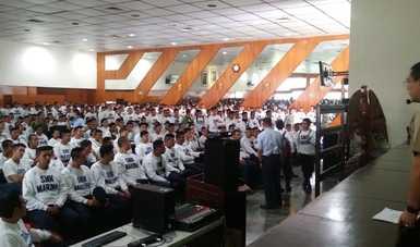 La Secretaría de Marina-Armada de México imparte academia de Derechos Humanos a su personal.
