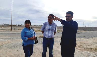 Román Meyer Falcón, titular de la Sedatu, acompañado de Edna Vega, directora de Conavi y del subsecretario de Desarrollo Urbano y Vivienda, Armando Rosales.