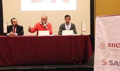 Fotografía de la rueda de prensa en Aguascalientes con el Director General