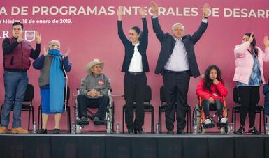 El presidente de México presentó los Programas Integrales para el Desarrollo en la Ciudad de México