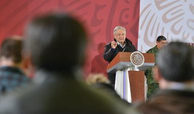 Conferencia de prensa del presidente Andrés Manuel López Obrador 20 de enero de 2019