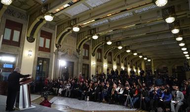 Presidente Andrés Manuel López Obrador en conferencia de prensa
