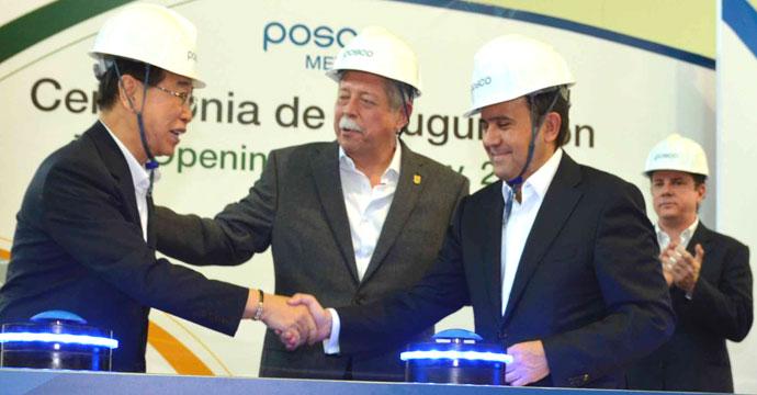 Inaugura el Secretario de Economía planta de acero galvanizado de la empresa Posco en Tamaulipas