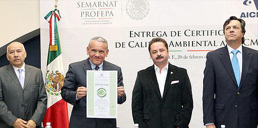 Obtiene AICM certificado de Calidad Ambiental